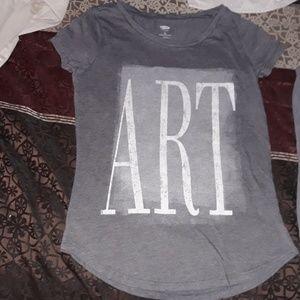 """GIRLS OLD NAVY """"ART"""" TEE"""
